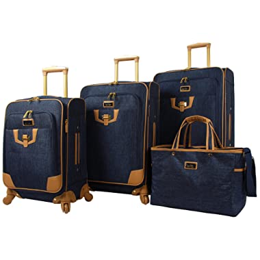 Nicole Miller Paige Collection 4-Piece Luggage Set: 28 , 24 , 20  Spinners and Tote Bag