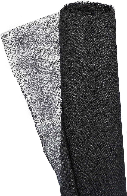 30 m Negro Relaxdays Pack 2 Rollos de Malla Antihierbas 17 g//m/² Permeable y Resistente a los Rayos UV Polipropileno