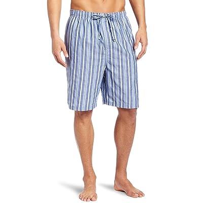 Nautica Men's Sultan Stripe Woven Pajama Short, Cornflower, Small at Men's Clothing store: Pajama Bottoms