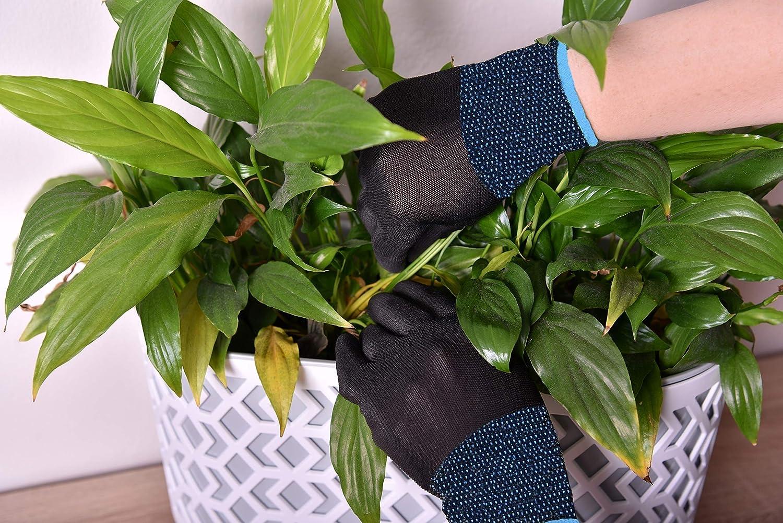 36 paires de gants de travail en nylon avec rev/êtement PU noir noir