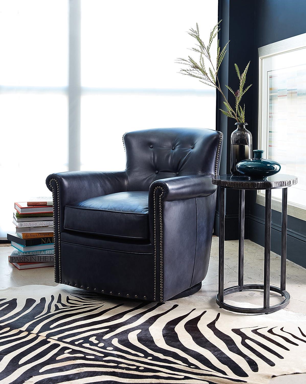 Harris /& Terry AMZ3977302 Dinita Swivel Club Chairs Blue