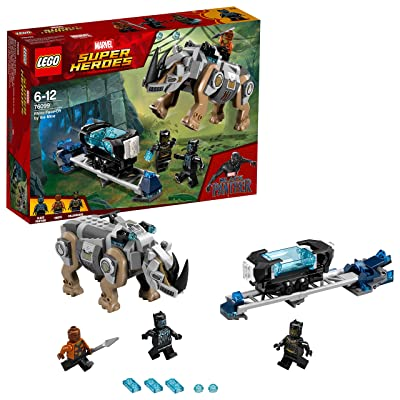 LEGO Marvel Super Heroes Black Panther - Rhino Face-Off by The Mine: Toys & Games