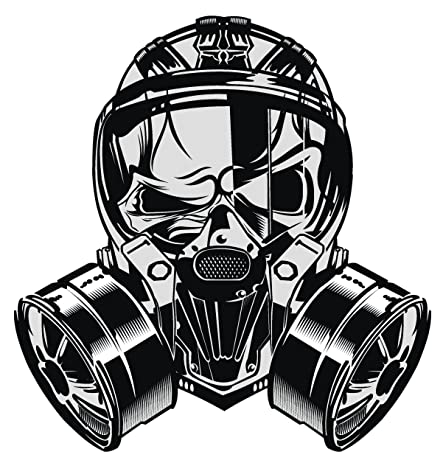 amazon com black shiny gas mask cartoon icon vinyl decal sticker rh amazon com black gas mask cartoon gas mask cartoon pics