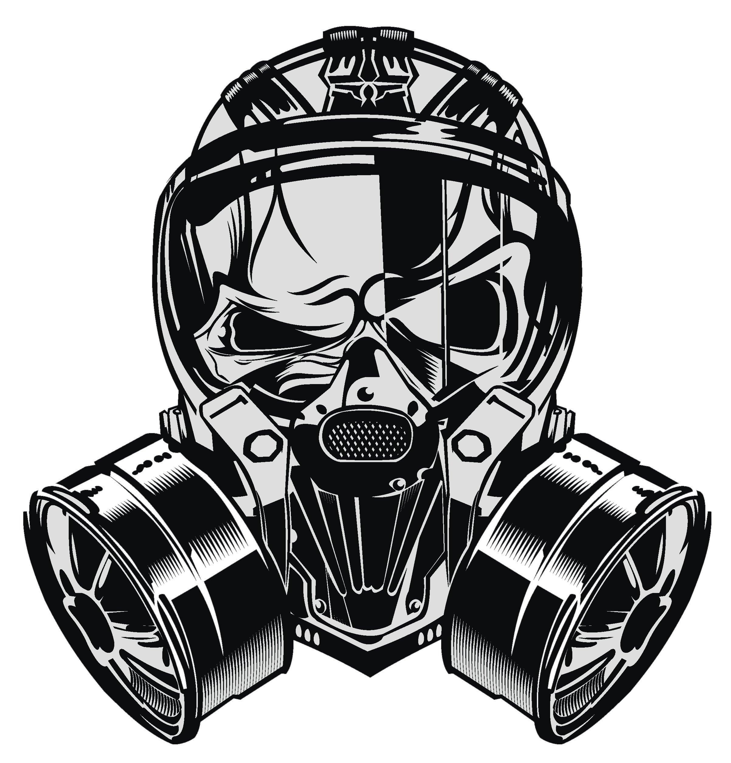 4 Tall Divine Designs Cool Black and White Gorilla Monkey Soldier Cartoon Vinyl Decal Sticker