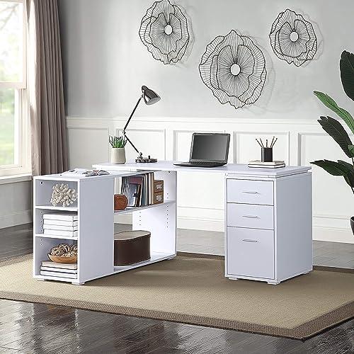 BELLEZE Trition L Shaped Computer Desk Home Office Corner Desk