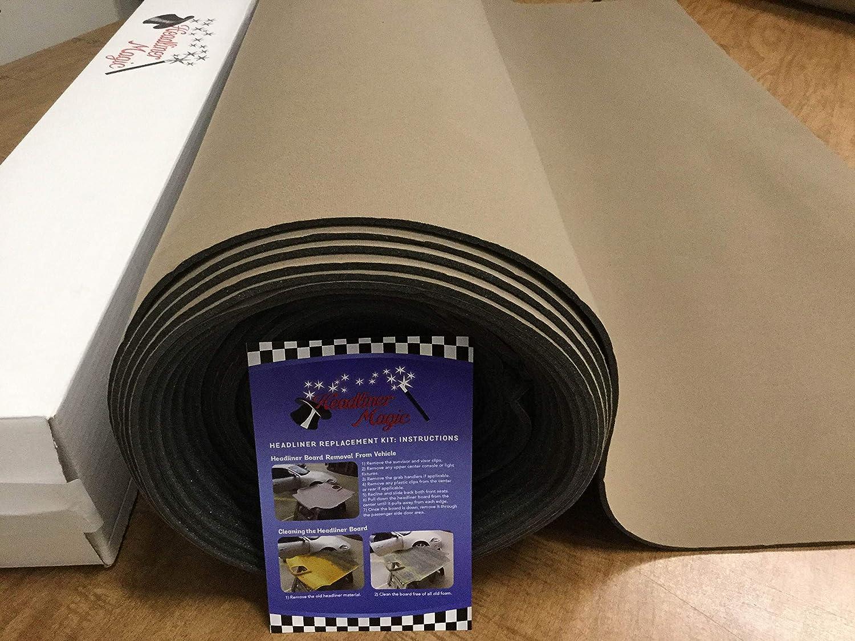 Black Auto Headliner 3//16 Foam Backing Fabric Material 120 X 60 by Headliner Magic