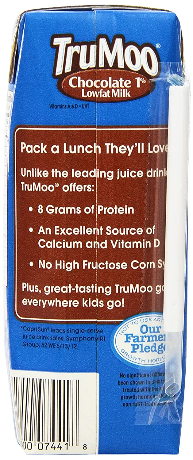 Trumoo 1% Low Fat Milk in Aseptic, Chocolate, 8 Ounce (Pack of 3 ...