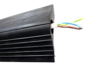 office cable protector. RUBBER CABLE PROTECTOR FLOOR TRUNKING TIDY 3M LENGTH Office Cable Protector