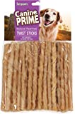 Sergeant's Canine Prime 5 inch Rawhide Twist Sticks for Dogs, 50 count