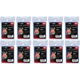 10 (Ten) Pack Lot of 100 Soft Sleeves/Penny Sleeve for Baseball Cards & Other Sports Cards (Packaging May Vary)