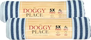 """My Doggy Place Pet Dog Cat Microfiber XL Drying Towel 45"""" x 28"""", Ultra Absorbent for Small, Medium, Large Dog Cats Great for Bathing and Grooming"""
