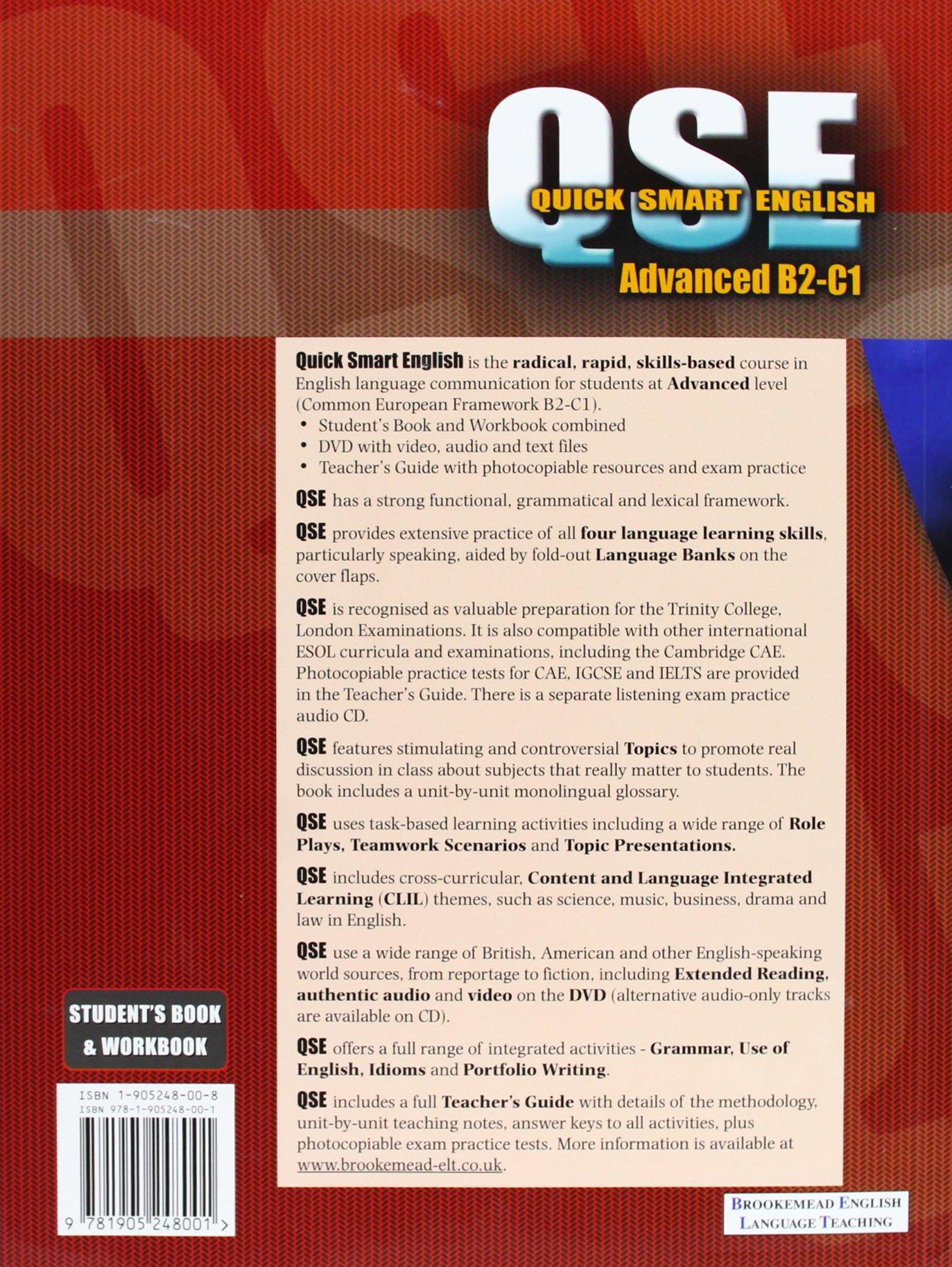Quick Smart English B2-C1 (Advanced) Student Book & Workbook& DVD