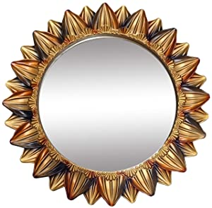SANWISH® Premium Designer Wall Decor Mirrors for Living Hall Dinning Room Bed Room and Bath Rooms (Gold)
