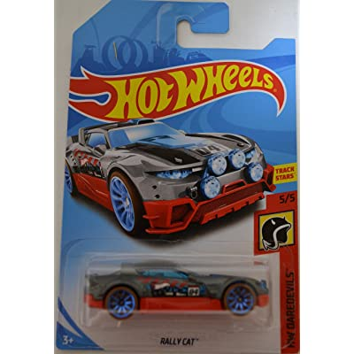 Hot Wheels Compatible Gray/Red Rally Cat HW 'Daredevils' Series 1:64 Scale Collectible Die Cast Model Car #5/5: Toys & Games