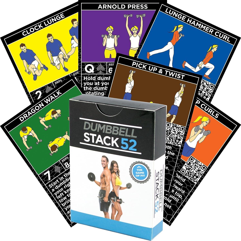 Tarjetas de ejercicios con mancuernas por Stack 52: Amazon ...