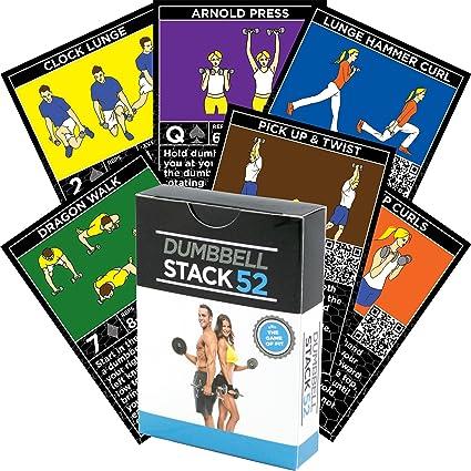 Tarjetas de ejercicios con mancuernas por Stack 52