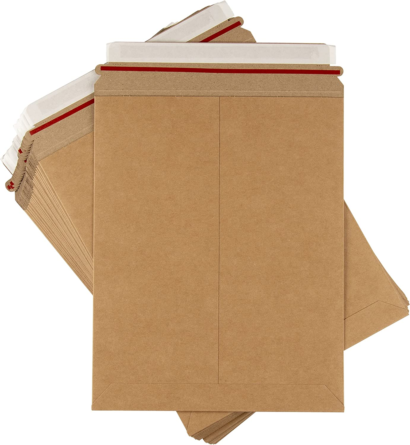 25 EcoSwift 6.5 x 4.5 Rigid Photo Mailers Stay Flats White Cardboard Self Seal Envelopes