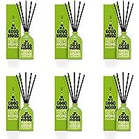 BE IN A GOOD MOOD Çubuklu Oda Kokusu – Ev Parfümü   Doğal Kokulu Yağ Karışımı   Çubuklu Oda Koku Seti   Ev & Ofis için İdeal - 6 Adet   100ml