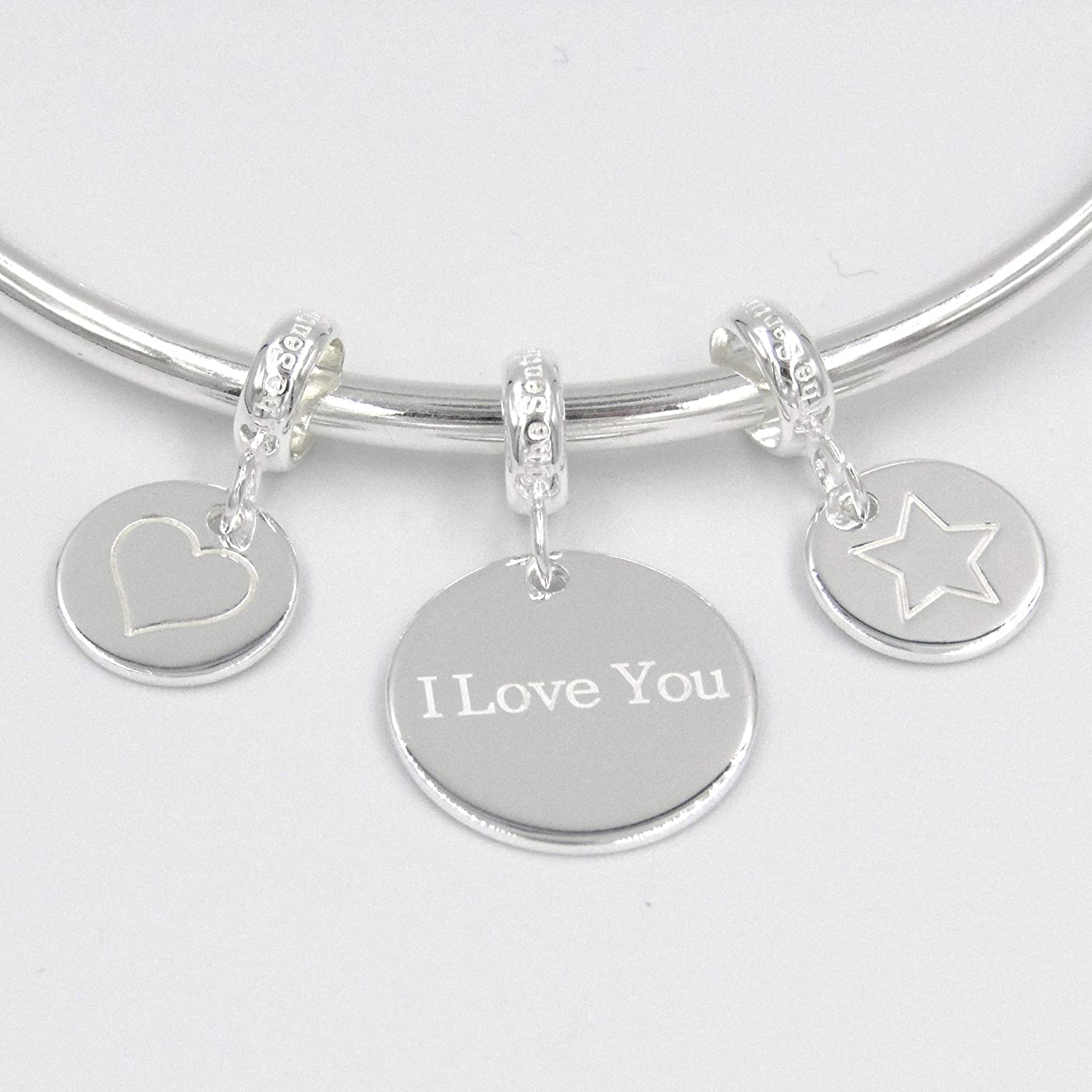 Plated Laugh Smile Quote Best Friend Gift Bead 0189 Soul Sister Pendant Charm Silver 925