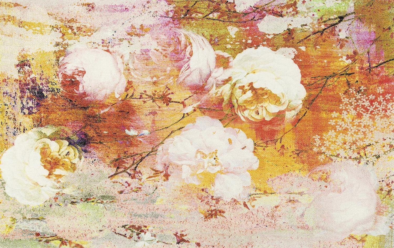 Wash+dry Loving Rose Fußmatte, Acryl, orange, 110 x 175 x 0.9 cm