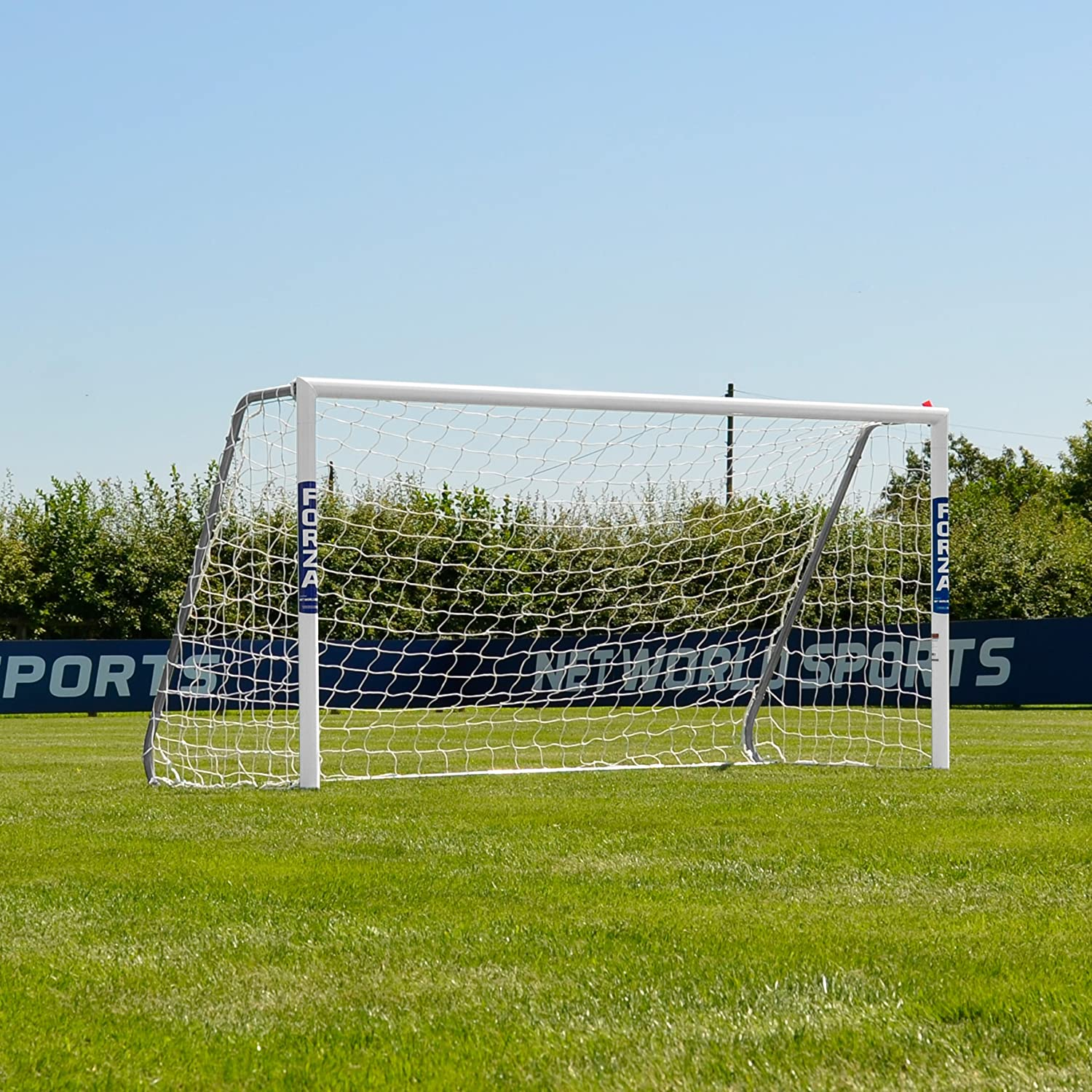 Forza alu60 Soccer Goal ( 8ft X 4 Ft ) (単一またはペア) (オプションターゲットシート) – Super StrongアルミSoccer Goal Perfect for Mini Soccer [ Net世界スポーツ] B0191MFV1U Single Goal & Target Sheet