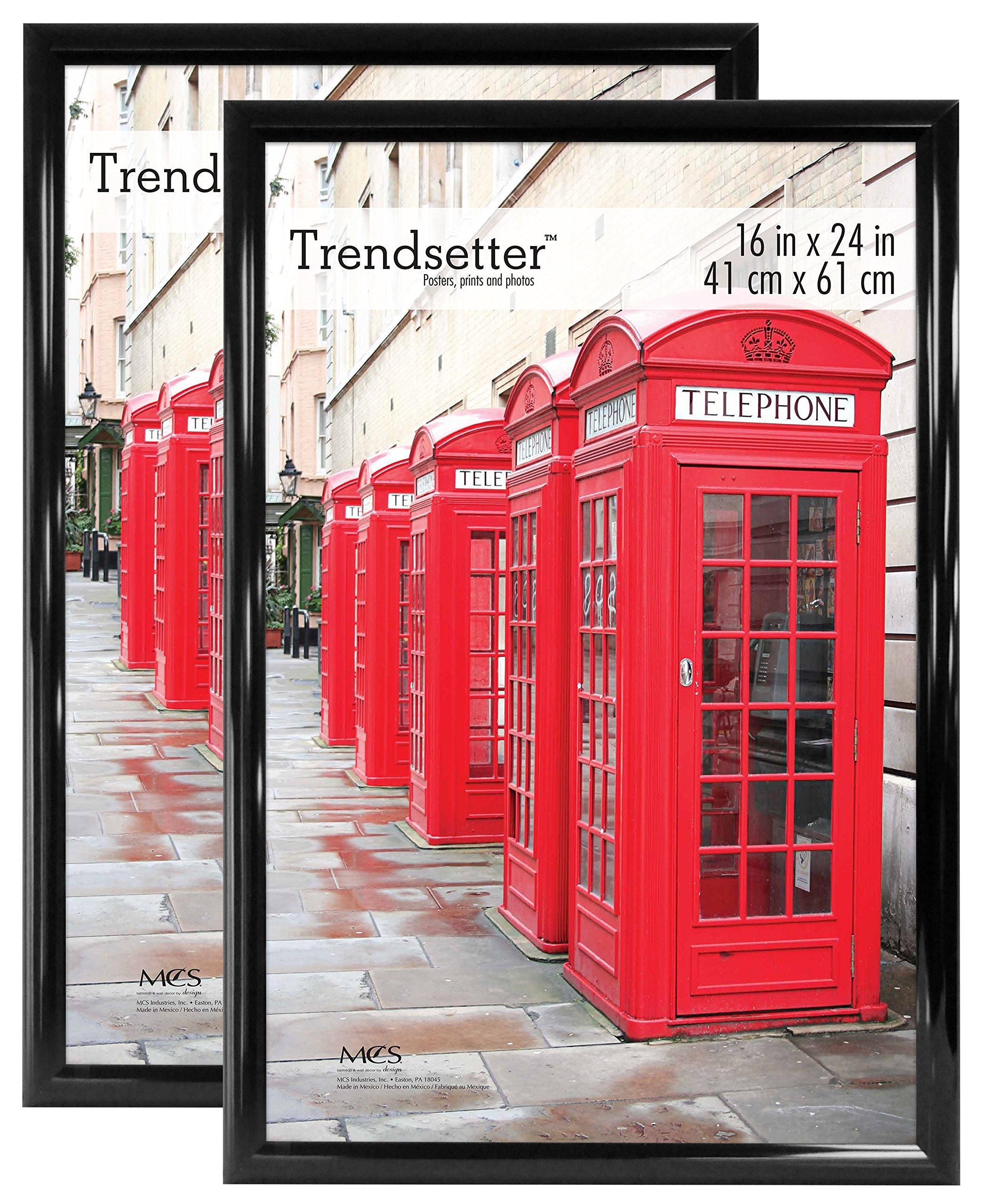 MCS 16x24 Inch Trendsetter Poster Frame 2-Pack, Black (65687)