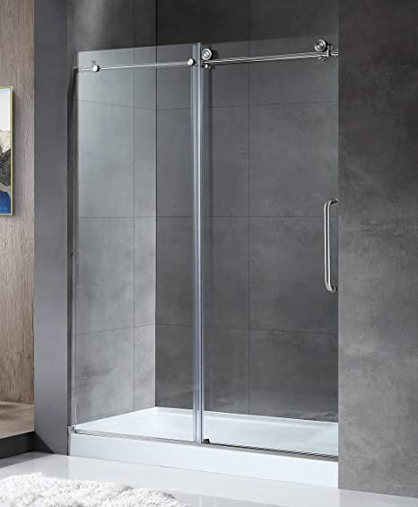 Anzzi Madam 76 X 60 Inch Frameless Sliding Shower Door In Brushed