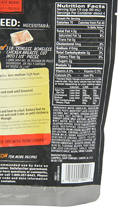 Amazon.com : Campbells Skillet Sauces, Creamy Chipotle with Roasted Corn and Black Bean, 9-Ounce Pouch : Marinades And Seasoning Mixes : Grocery & Gourmet ...