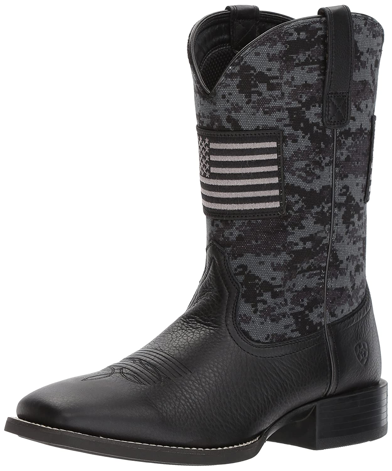Svart Ariat Sport bred Square Square Square Toe Boot  Fabriks Outlet