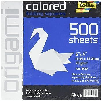 Amazon Folia Origami Paper 6 Inch By 6 Inch White 500 Sheet