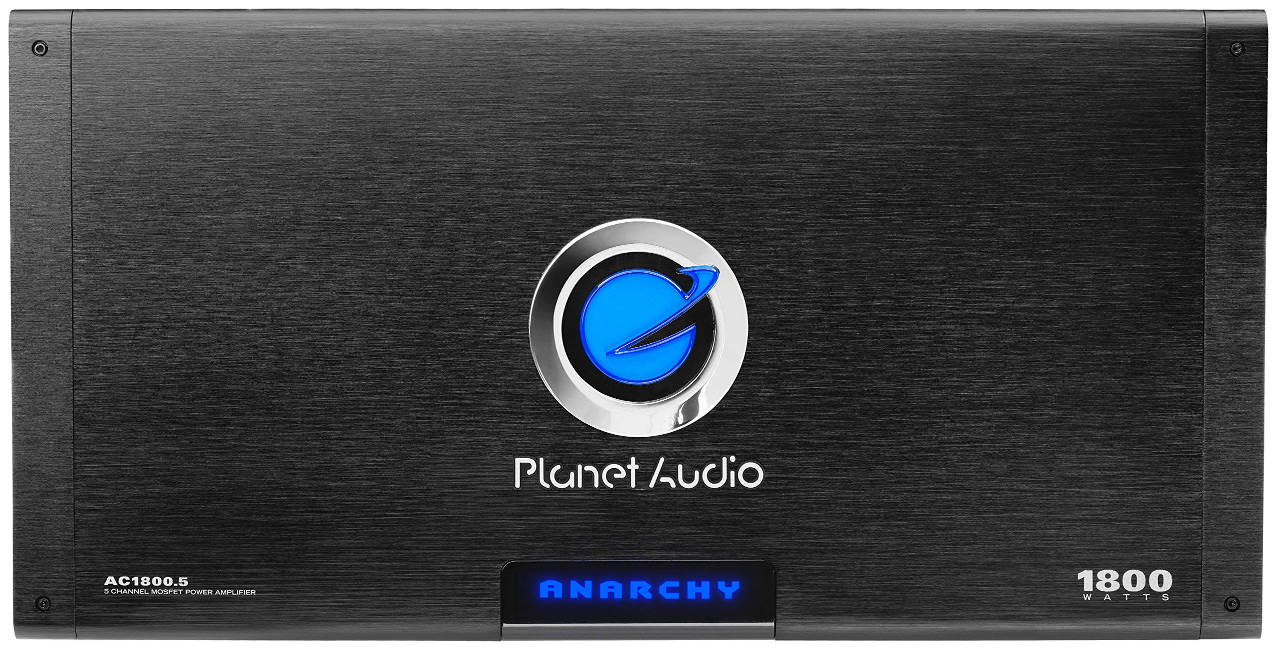 Planet Audio AC1800.5 Anarchy 1800 Watt, 5 Channel, 2/4 Ohm Stable Class A/B, Full Range, Bridgeable, MOSFET Car Amplifier with Remote Subwoofer Control