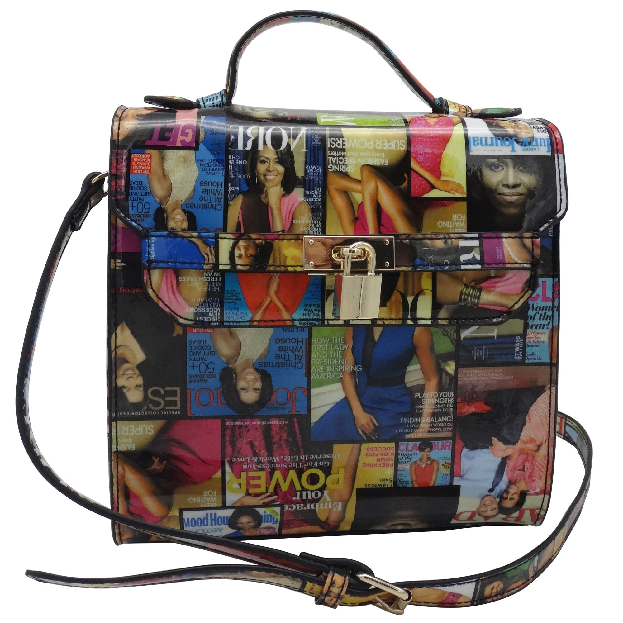 Michelle Obama Magazine Style Crossbody (Multicolored)