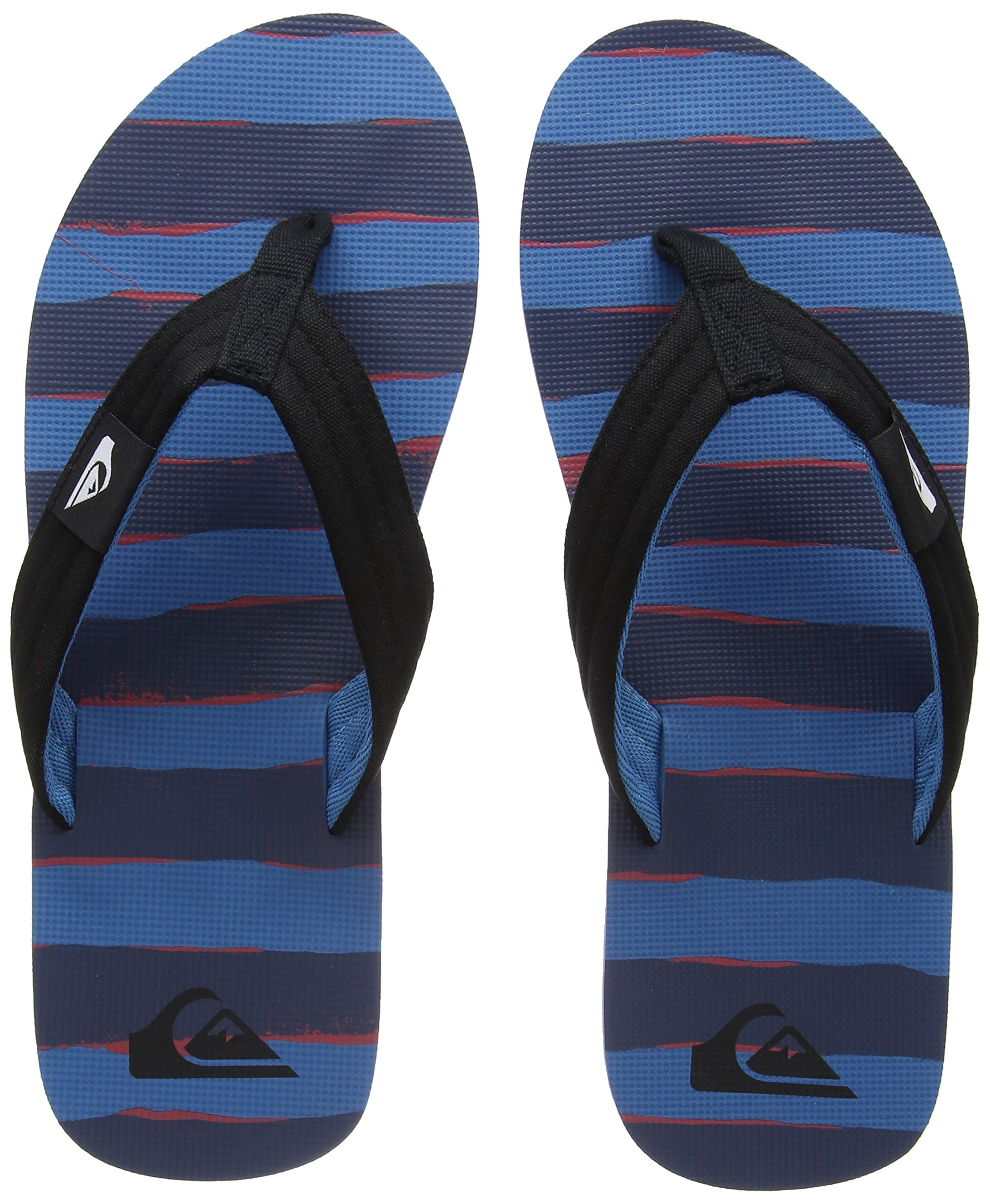 Quiksilver Molokai Layback Flip Flops - Black/Red / Blue UK 9