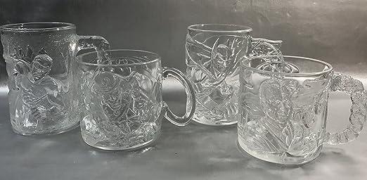 The Riddler Glass Figure Mug McDonalds DC Comics Batman Forever 1995 Cup Clear