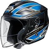 ショウエイ(SHOEI) バイクヘルメット ジェットJ-FORCE4 BRILLER(ブリエ) TC-2 (BLUE/BLACK) XL(61cm)