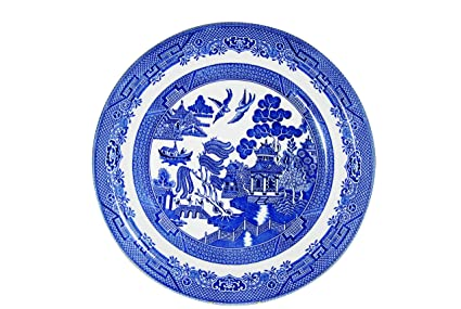 Churchill Blue Willow Fine China Earthenware Dinner Plate 10.2\u0026quot; Set Of 6 Made In  sc 1 st  Amazon.com & Amazon.com | Churchill Blue Willow Fine China Earthenware Dinner ...