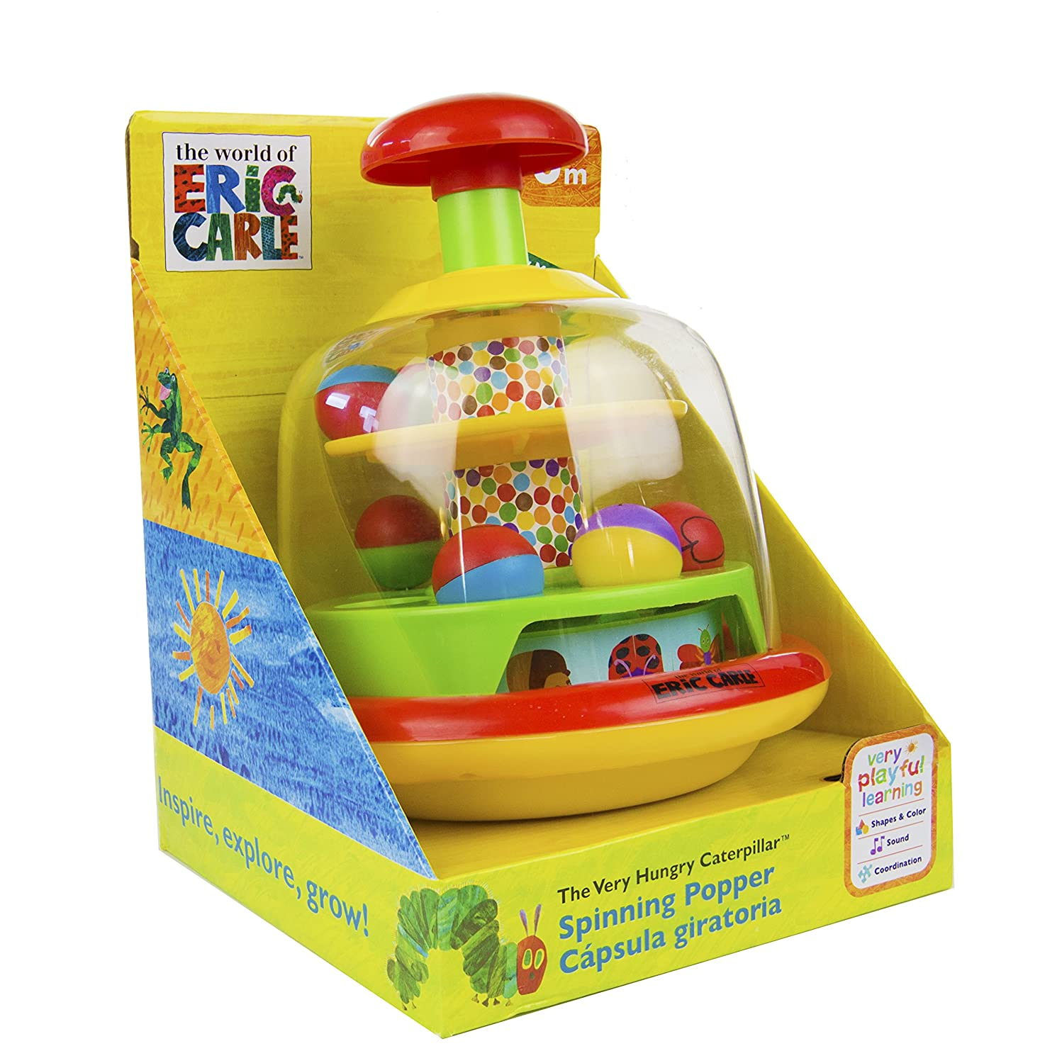 Eric Carle The Very Hungry Caterpillar Push and Spin Popper Toy Kids Preferred 96907