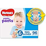 Huggies Ultra Dry Nappy Pants, Boys, Size 6 Junior (15+ kg), 96 Count