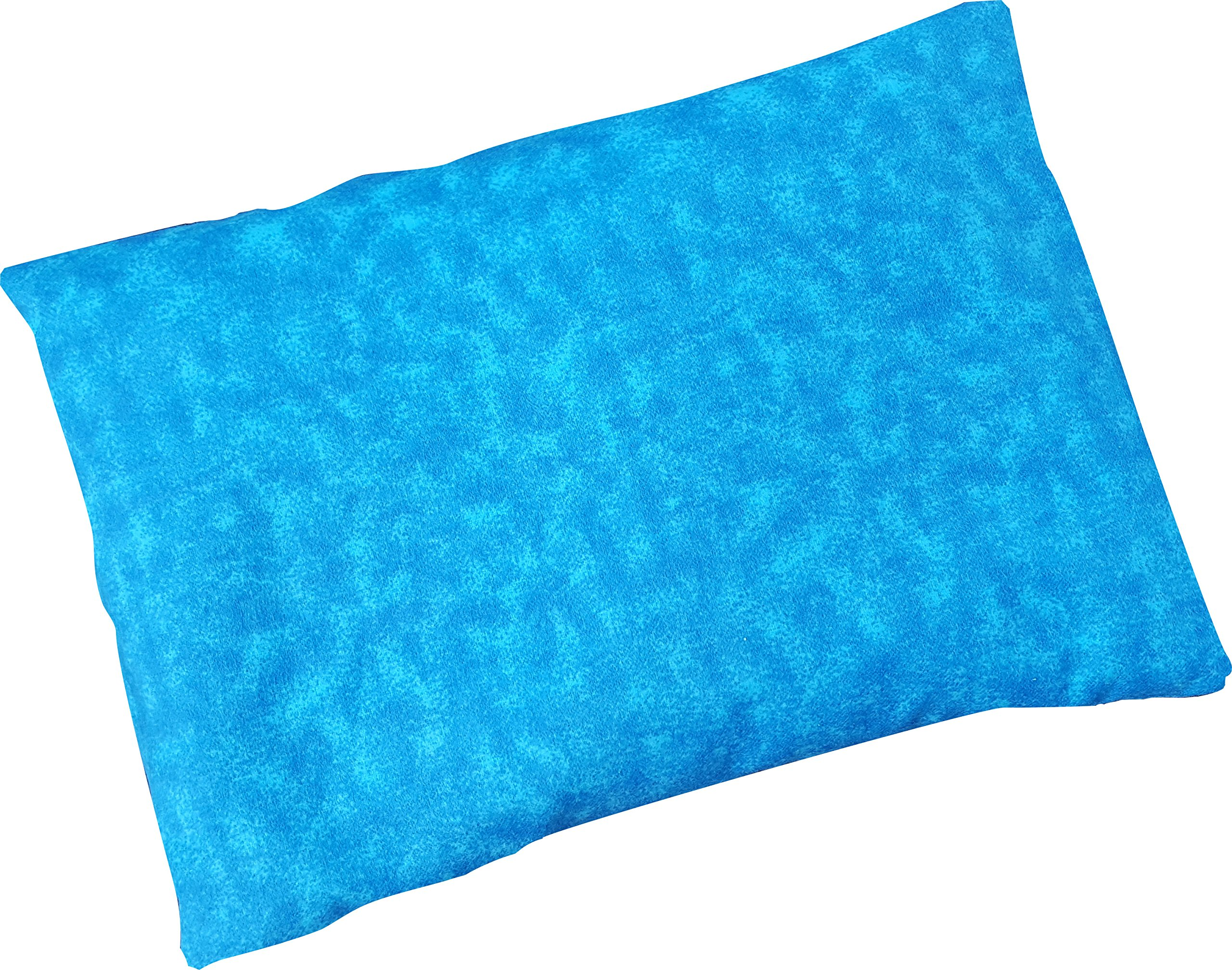 Microwavable Corn Filled Heating Pad and Cold Pack/Washable 100% Cotton Cover (7.5''Wx11''L, Blue Stream) by Caylee's Creations