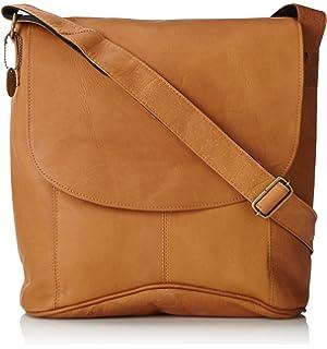 One Size Messenger Bag Plus 2 David King /& Co Tan