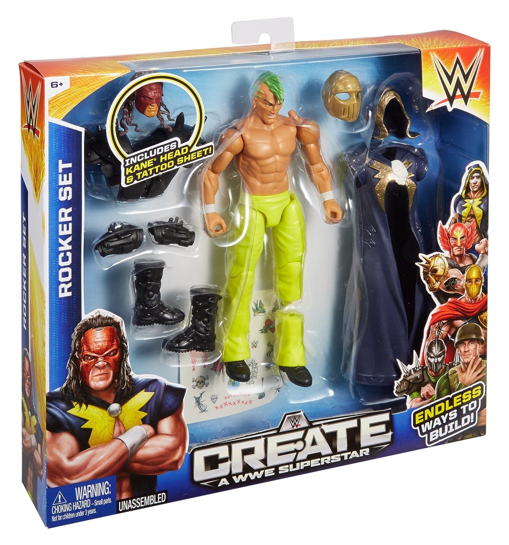 WWE CREATE A WWE SUPERSTAR KANE ROCKER SET ACTION FIGURE BRAND NEW CHG53