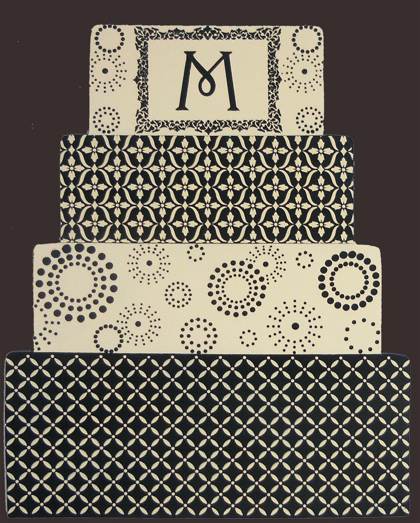 Designer Stencils C776 Eyelet Lattice Cake Stencil, Beige/semi-transparent by Designer Stencils (Image #1)