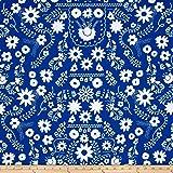 Art Gallery Fiesta Fun Mexican Dress Midnight Fabric By The Yard