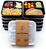 Amazon Price History for:Healthy Packers 3 Compartment Reusable Food Storage Container with Lid, Pack of 10