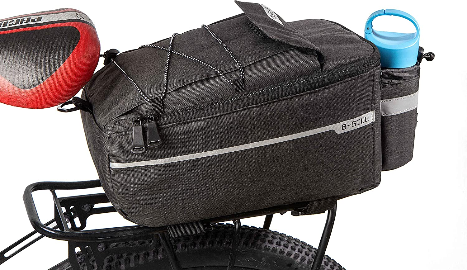 Cycling Bike Rear Rack Bag Insulated Trunk Cooler Bag for Warm or Cold Items,MTB Bike Storage Luggage Pannier Bag