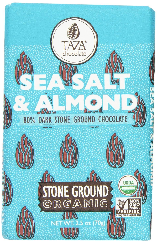 Amazon.com : Taza Chocolate Sea Salt and Almond, 2.5 Ounce ...