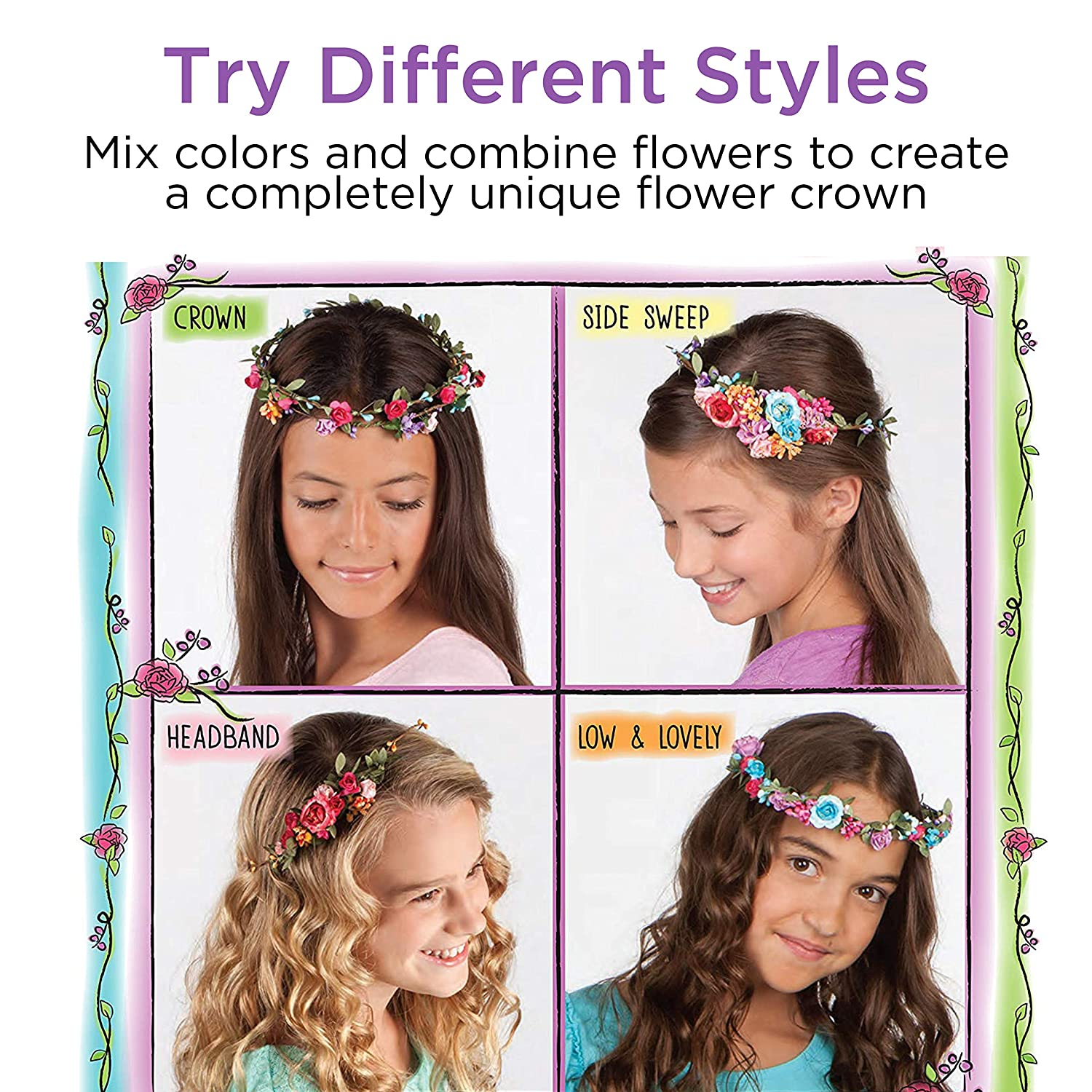 Amazon Creativity For Kids Flower Crowns Hair Accessory Kit