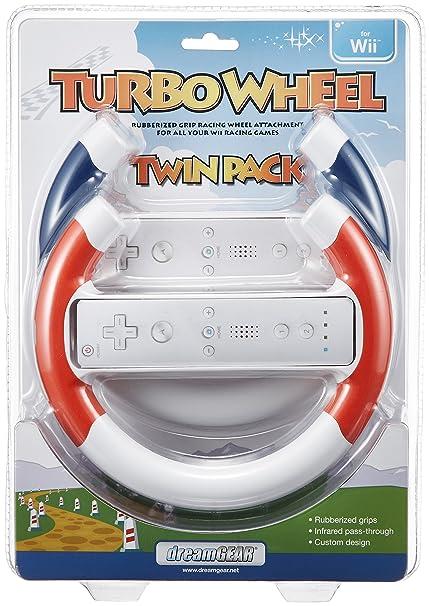 Nintendo DGWII-1094 Turbo - Juego de 2 bandejas para ruedas, color rojo y