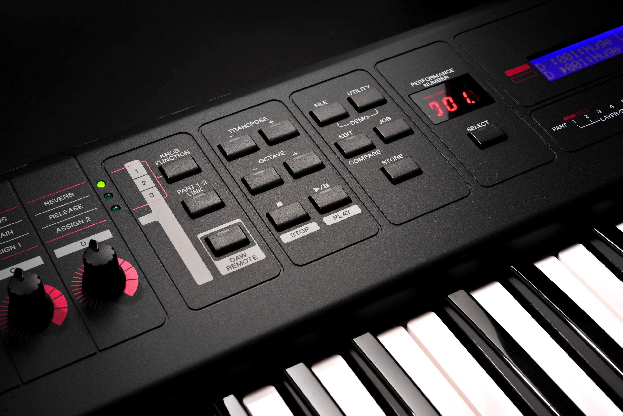Yamaha MX61 Controls
