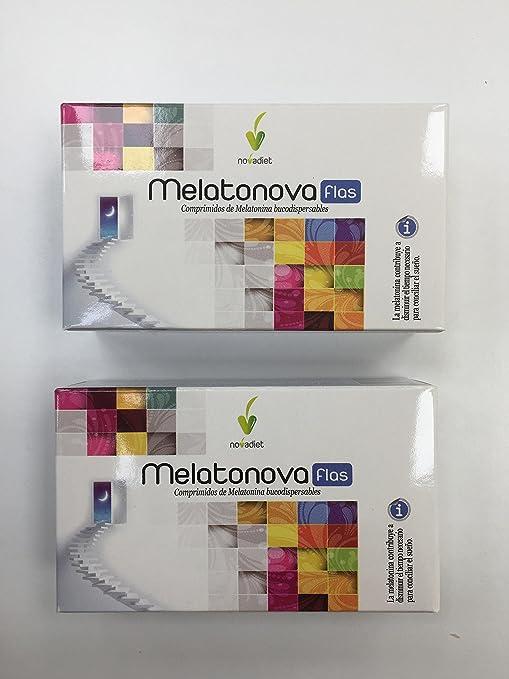 Novadiet Melatonova Flas - 2 Paquetes de 30 Tabletas